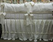 Ruffled Crib Skirt in Washed Handkerchief Linen. $175.00, via Etsy.