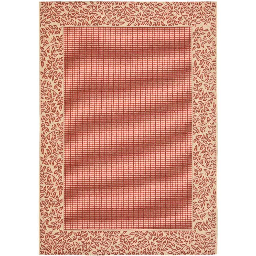 Safavieh Courtyard Red Natural 9 Ft X 12 Ft Area Rug Cy0727 3707 9 At The Home Depot Coastal Area Rugs Outdoor Rugs Indoor Outdoor Rugs