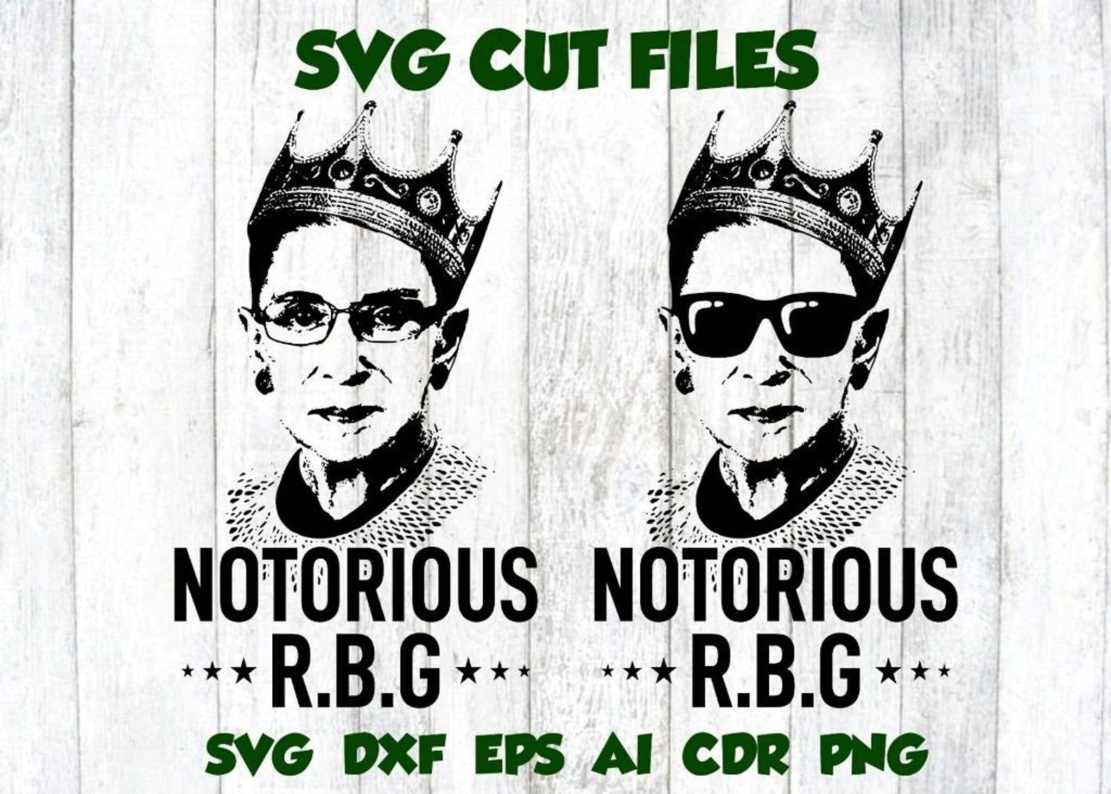 Notorious RBG Girl Power Ruth Bader Ginsburg Feminism SVG