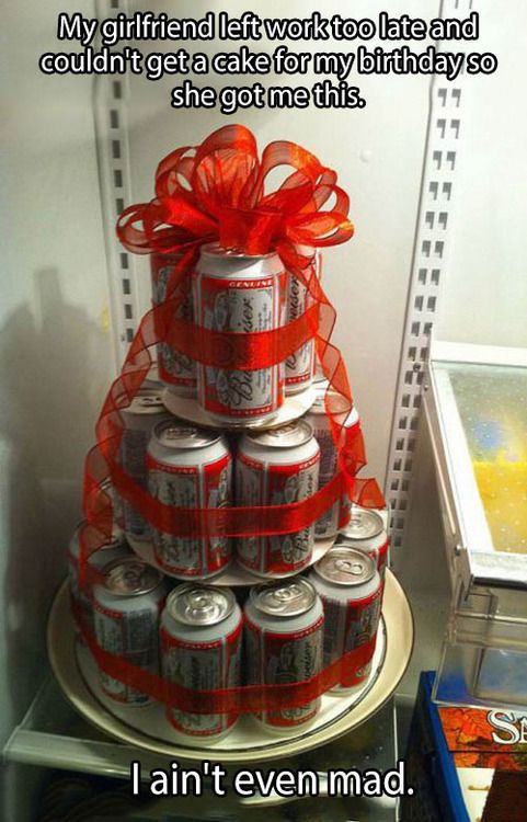 Fathers Day Gift Idea Redneck Birthday beer cake Gift Idea