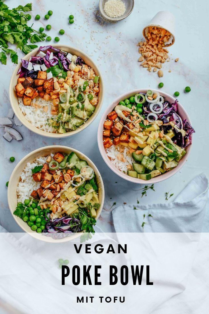 Poke Bowl mit Tofu I vegan und vegetarisch - carinaberry.com