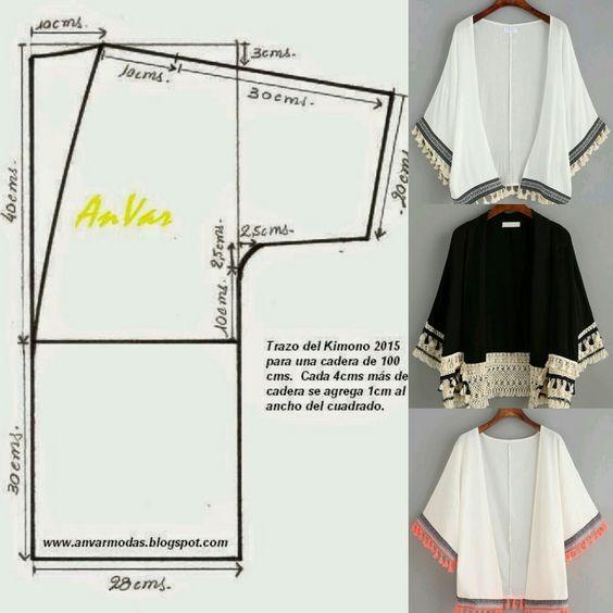 Kimono.. Patrón incluido.. - Glenny Melendez - Google+   COSTURA ...