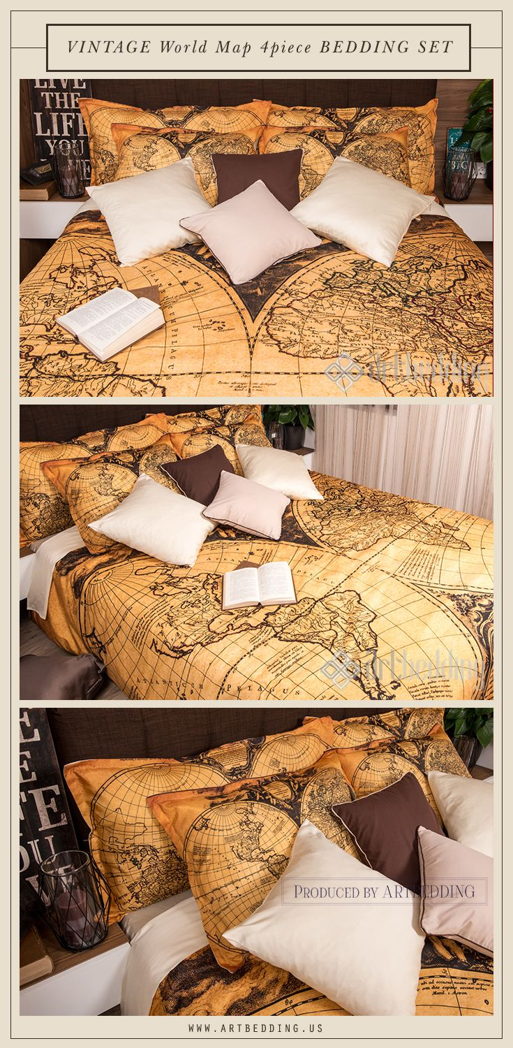 Ancient world map 1752 bedroom decor vintage interior vintage map ancient world map 1752 bedroom decor vintage interior vintage map bedding set this is a 4 piece bedding set that includes a vintage world map duvet cover gumiabroncs Gallery