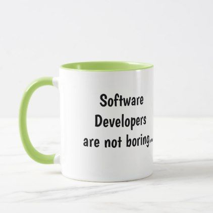 Software Developers Not Boring Cruel Funny Quote Mug  Quote Pun