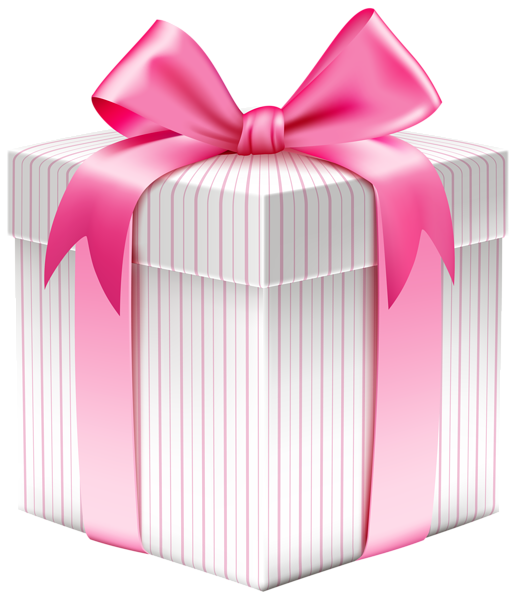 White Striped Gift Box PNG Clipart Picture | Planner Happiness ...