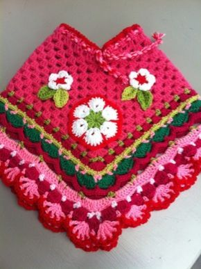 Kinderponcho Crochet Kniting 4 Baby Toddlers Pinterest