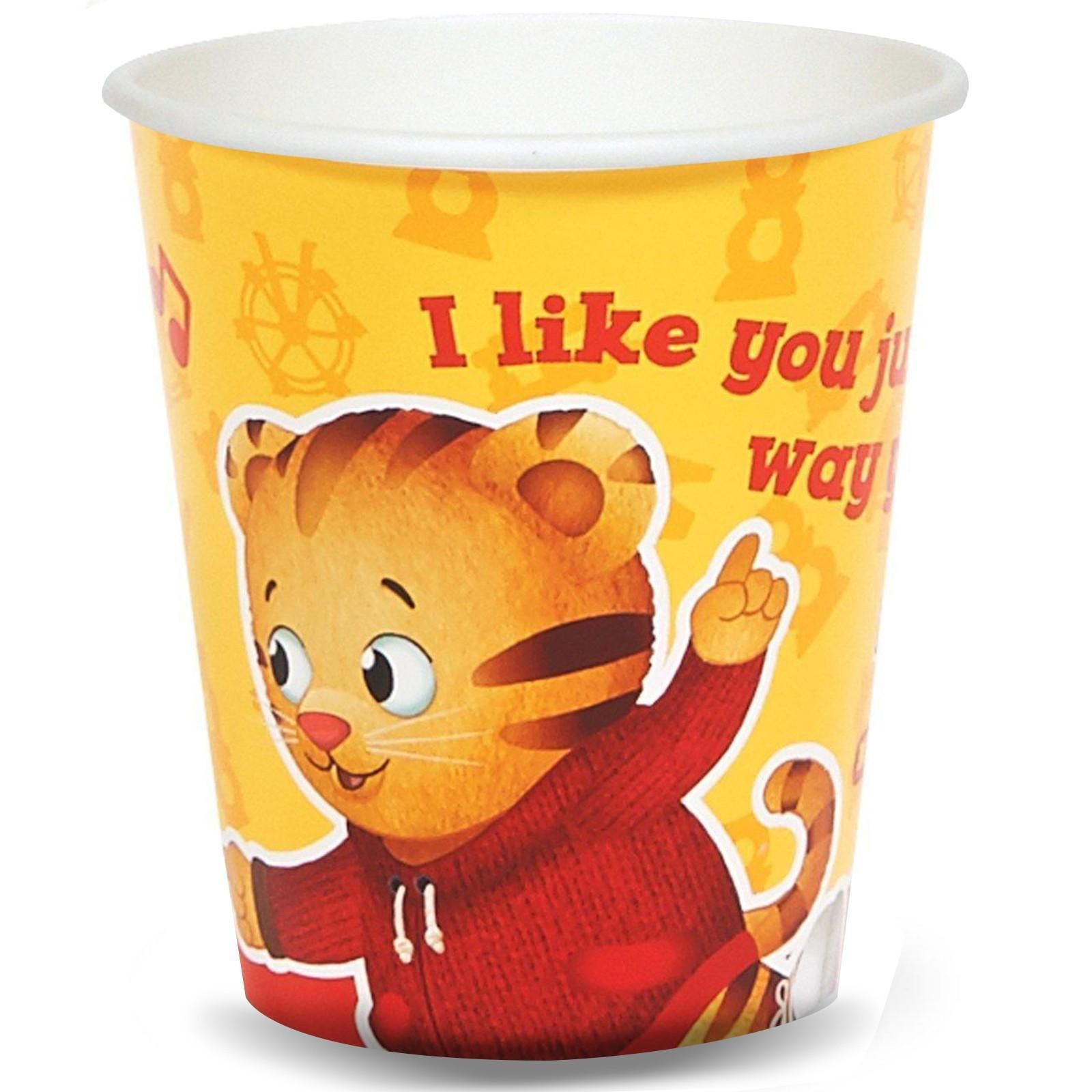 """Daniel Tiger's Neighborhood 9 oz. Paper Cups on BirthdayExpress.com - """"I like you just the way you are!"""" Every child is special and unique. What better way to celebrate than a toast in these cute cups!"""