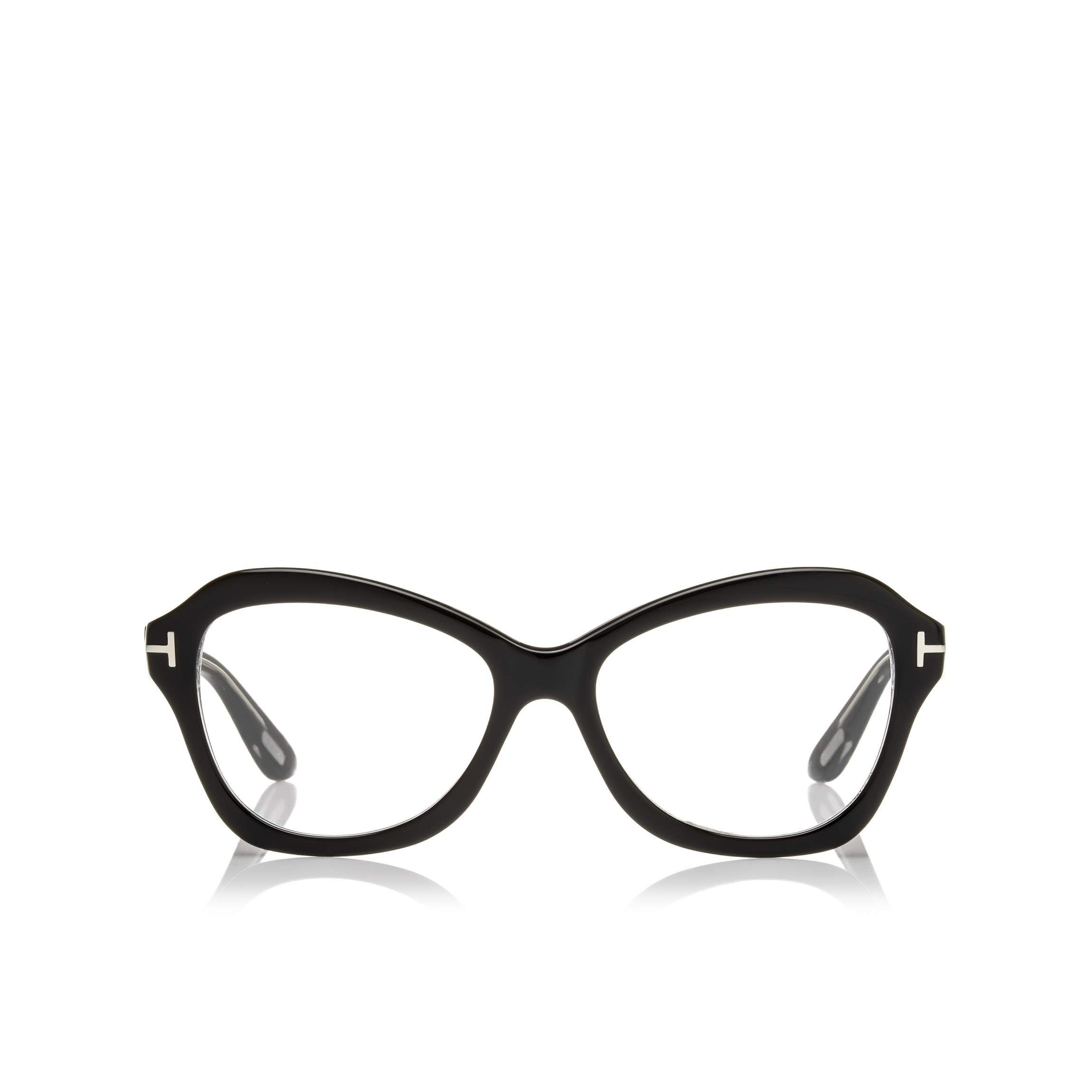 7cfbd922a98 Glasses · Tom Ford Soft rounded butterfly acetate style with metal  T   temple decoration Tom Ford