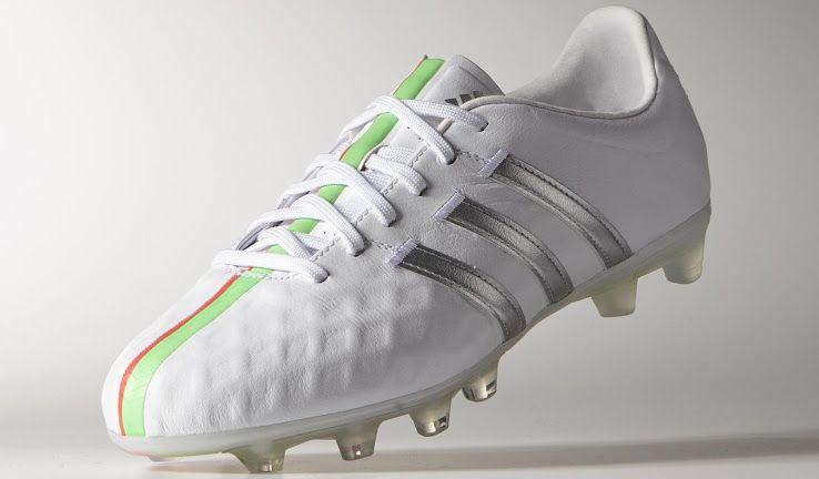 317038c8d1a ... sale adidas adipure 11pro womens white silver metallic flash green  4ae07 f791c