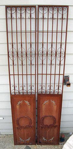 decorative garden gates. French Style Antique Wrought Iron Gates Decorative Garden Architectural Salvage | EBay