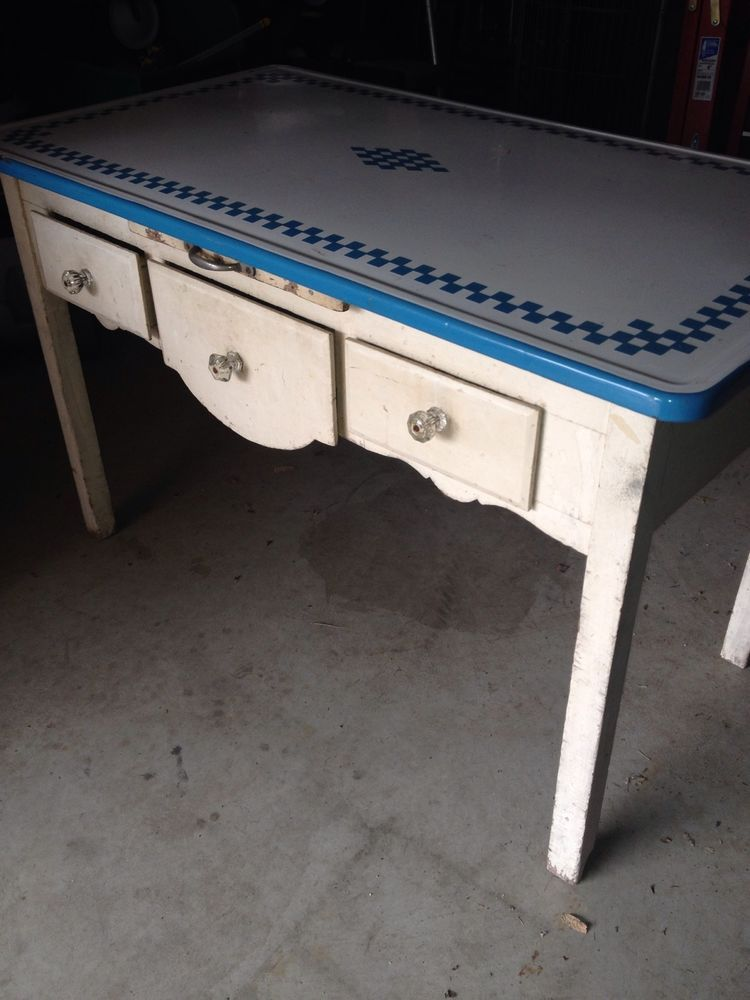 Vintage Enamel Top Bakers Table Vintage Table Love Pinterest Vintage Kitchen Vintage And