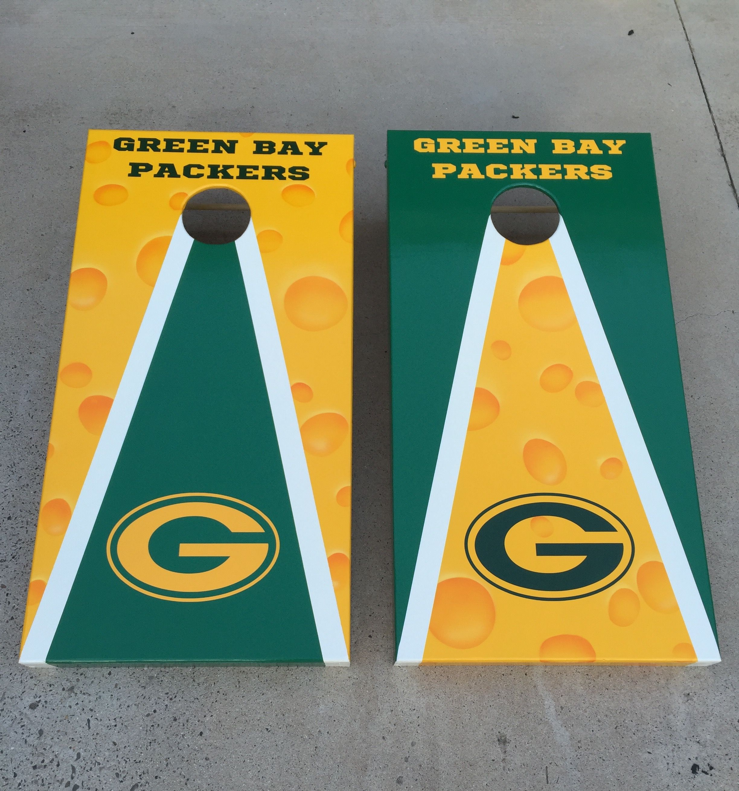 Packers Corn Hole Game On Cornhole Designs Cornhole Yard Games