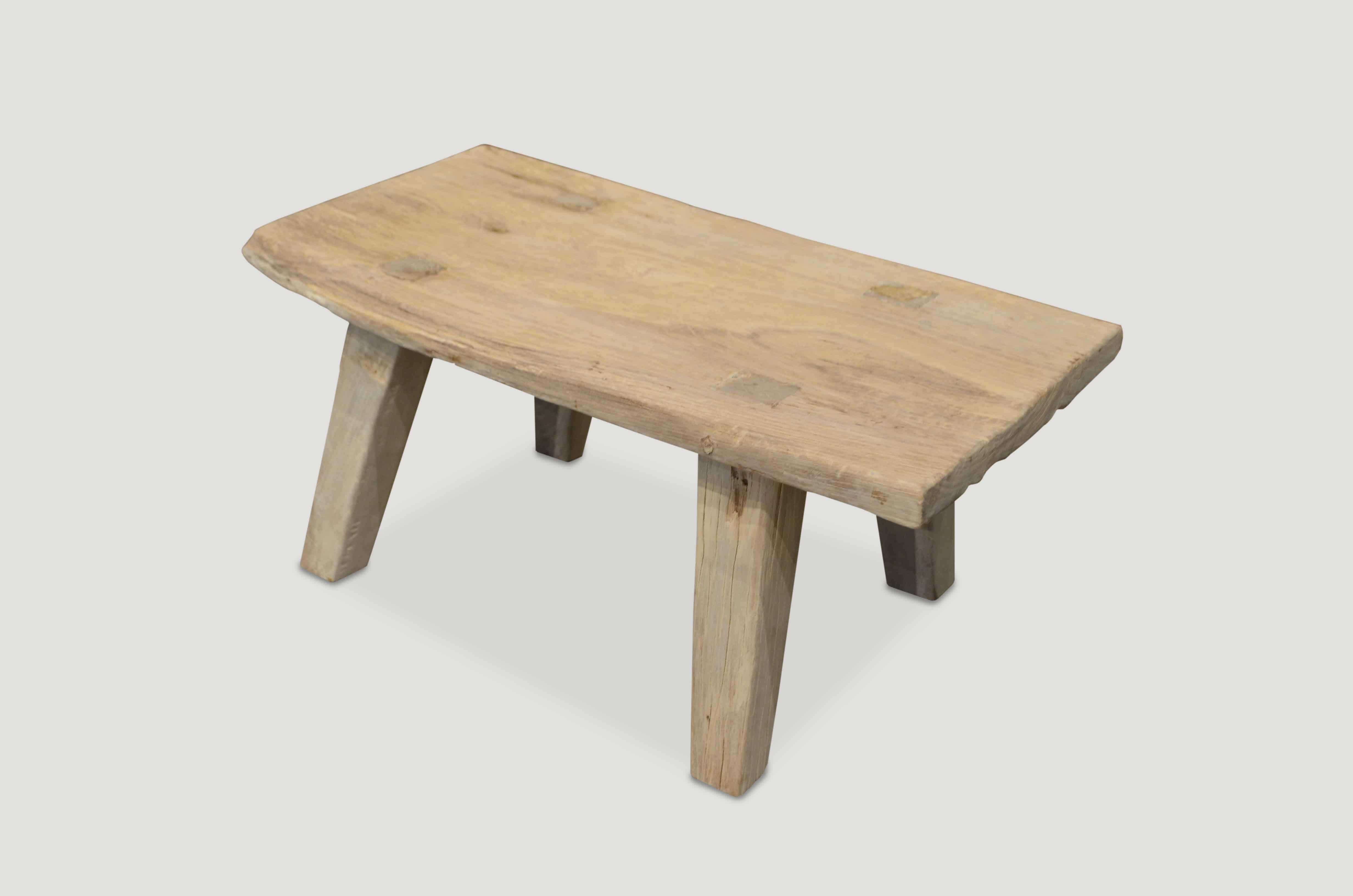 Bleached Teak Wood Side Table Coffee Table Or Bench 108le