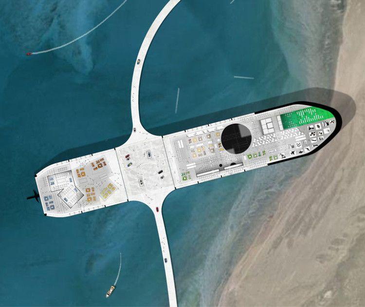 Designers holandeses transformam navio petroleiro abandonado em pequenas cidades  #branding #business #marketing #design