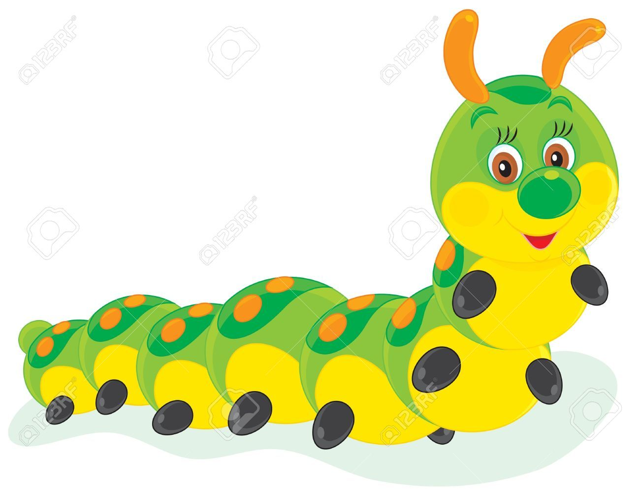 Stock Vector Clip Art Caterpillar Free Clip Art