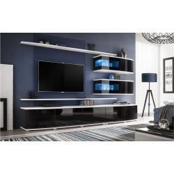 Photo of Stylefy Sonic Wandeinheit Verlängerungswand weiß schwarz