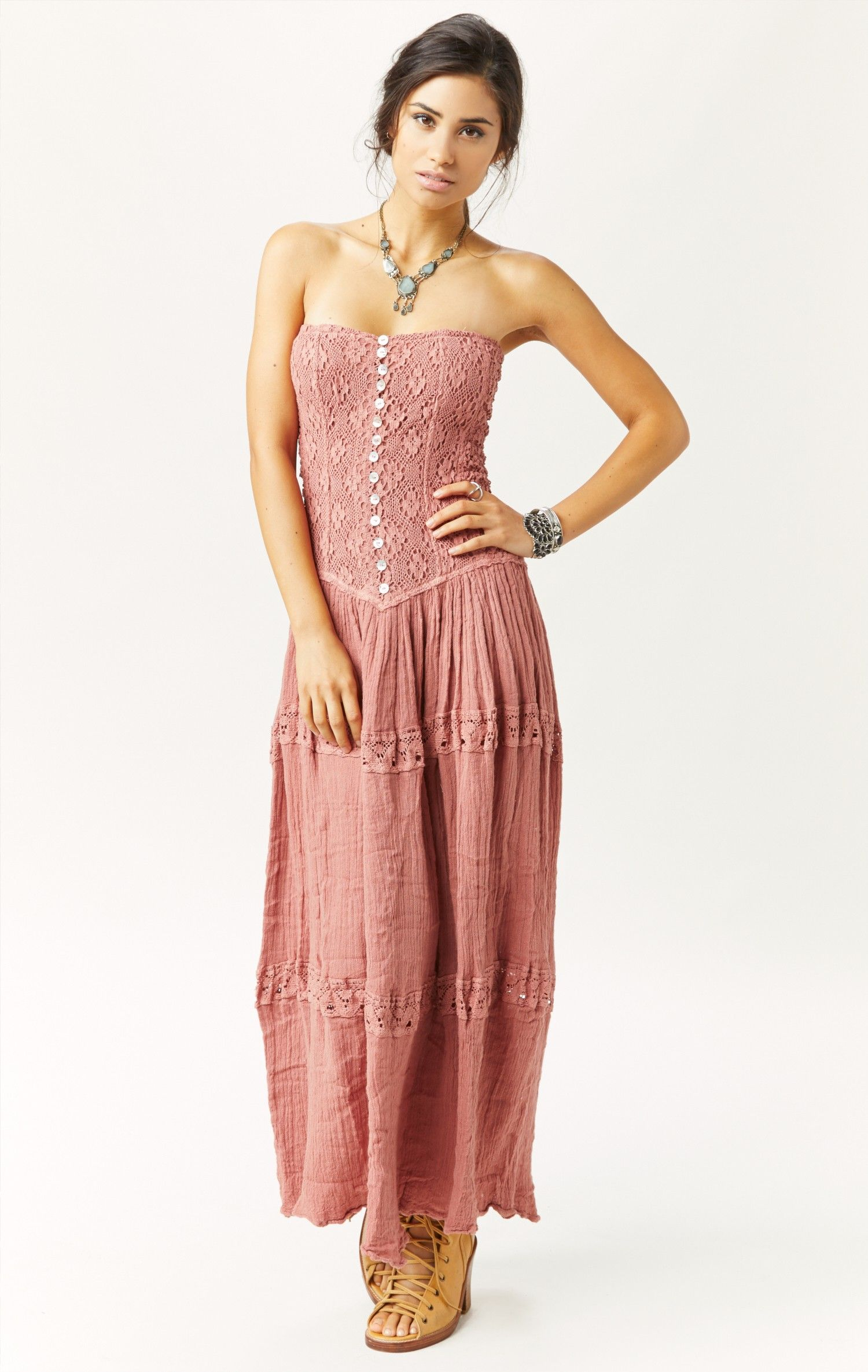 cherokee rose maxi dress by JEN'S PIRATE BOOTY #planetblue