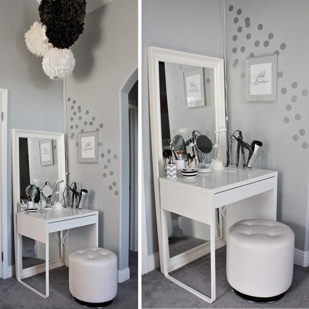dressing small com table vanity white cream furniture with tylerlumm set drawers bedroom