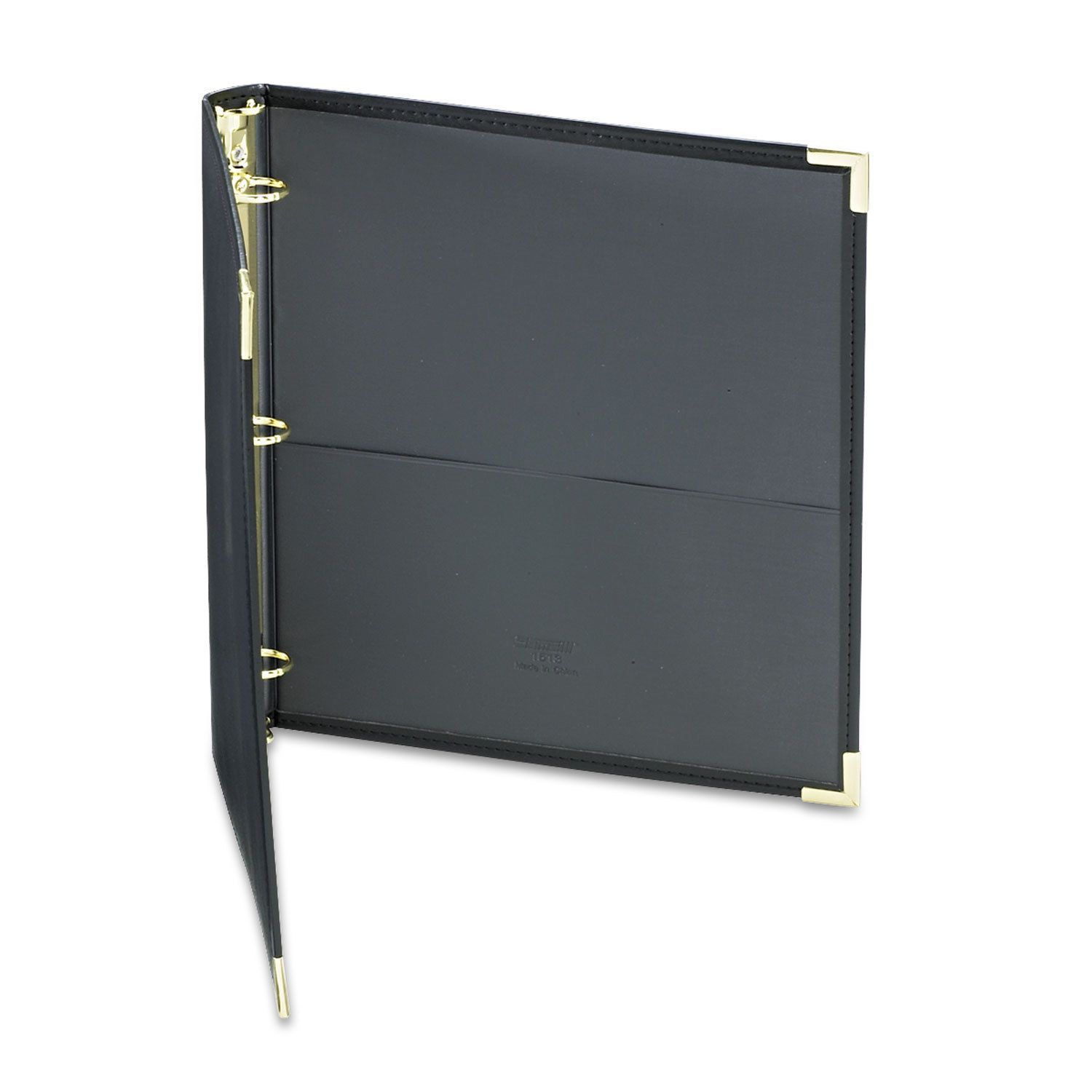 Samsill Classic Collection Ring Binder 11 X 8 1 2 1 Inches Capacity Black Black Ring Binder Classic Collection Leather Binder