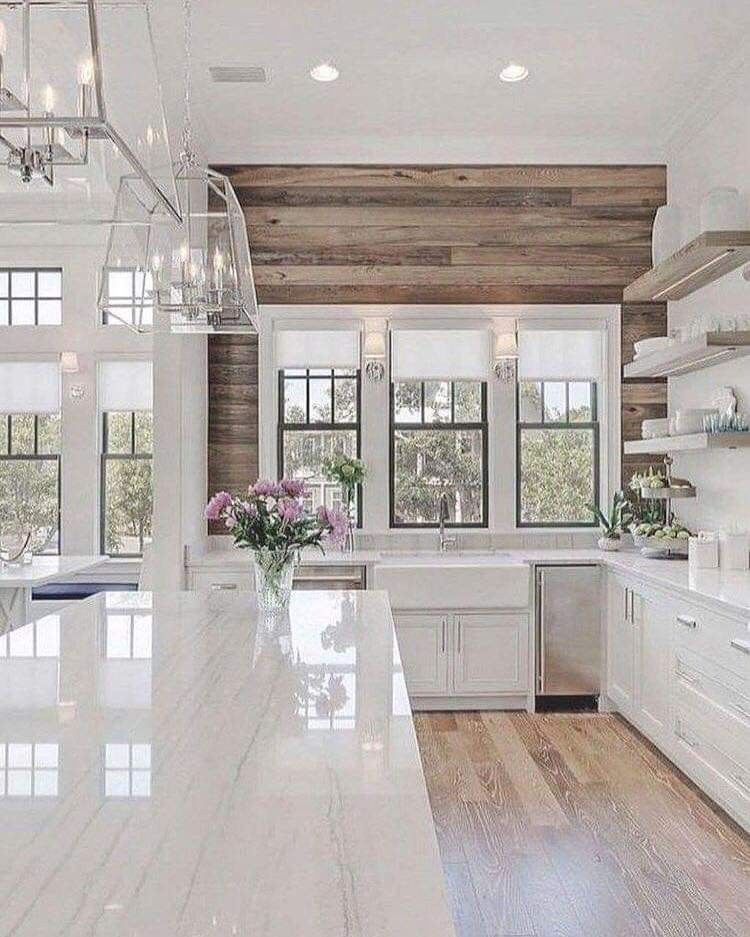 Wood And Marble Design Styles In 2019 Home Decor Kitchen Modern