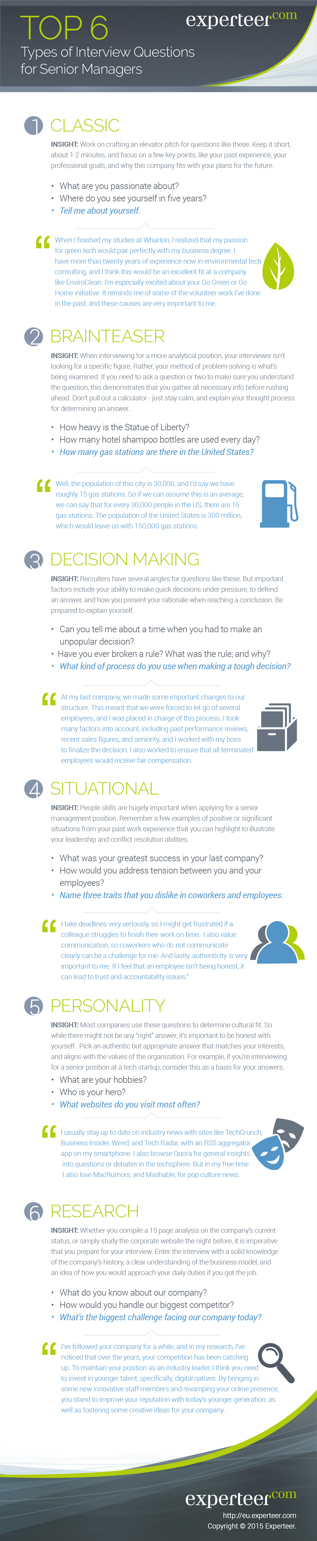 The Top 6 Most Common Interview Questions for Senior #Managers... @experteer