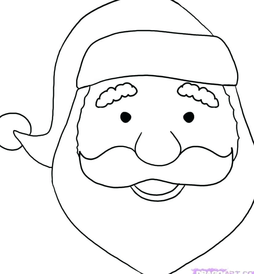 Santa Face Coloring To Color N Page Claus How To Draw Santa