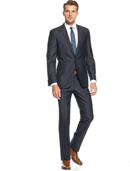 cae0b249ca2a Men's Blue Navy Texture Solid Slim Fit Suit | Liar, Cheater ...