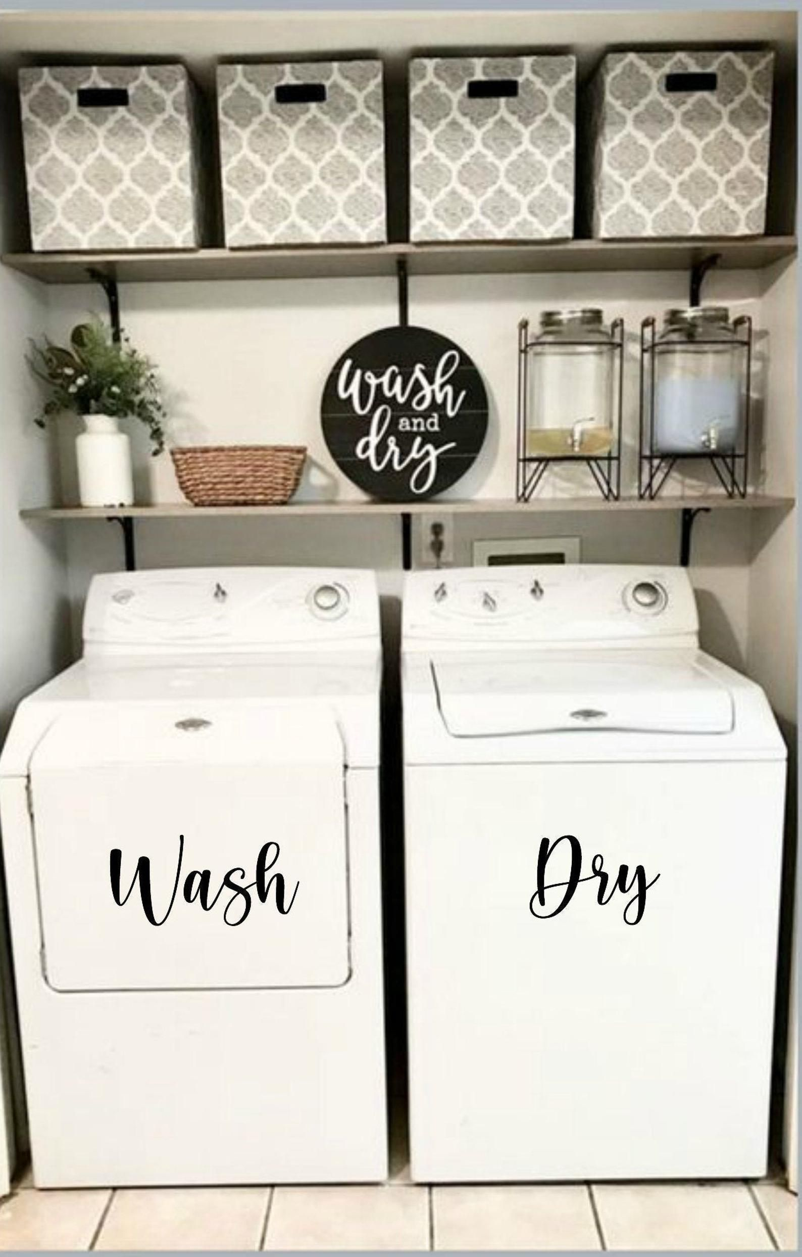 Washer and Dryer Decal // Laundry Room Decal // Wa