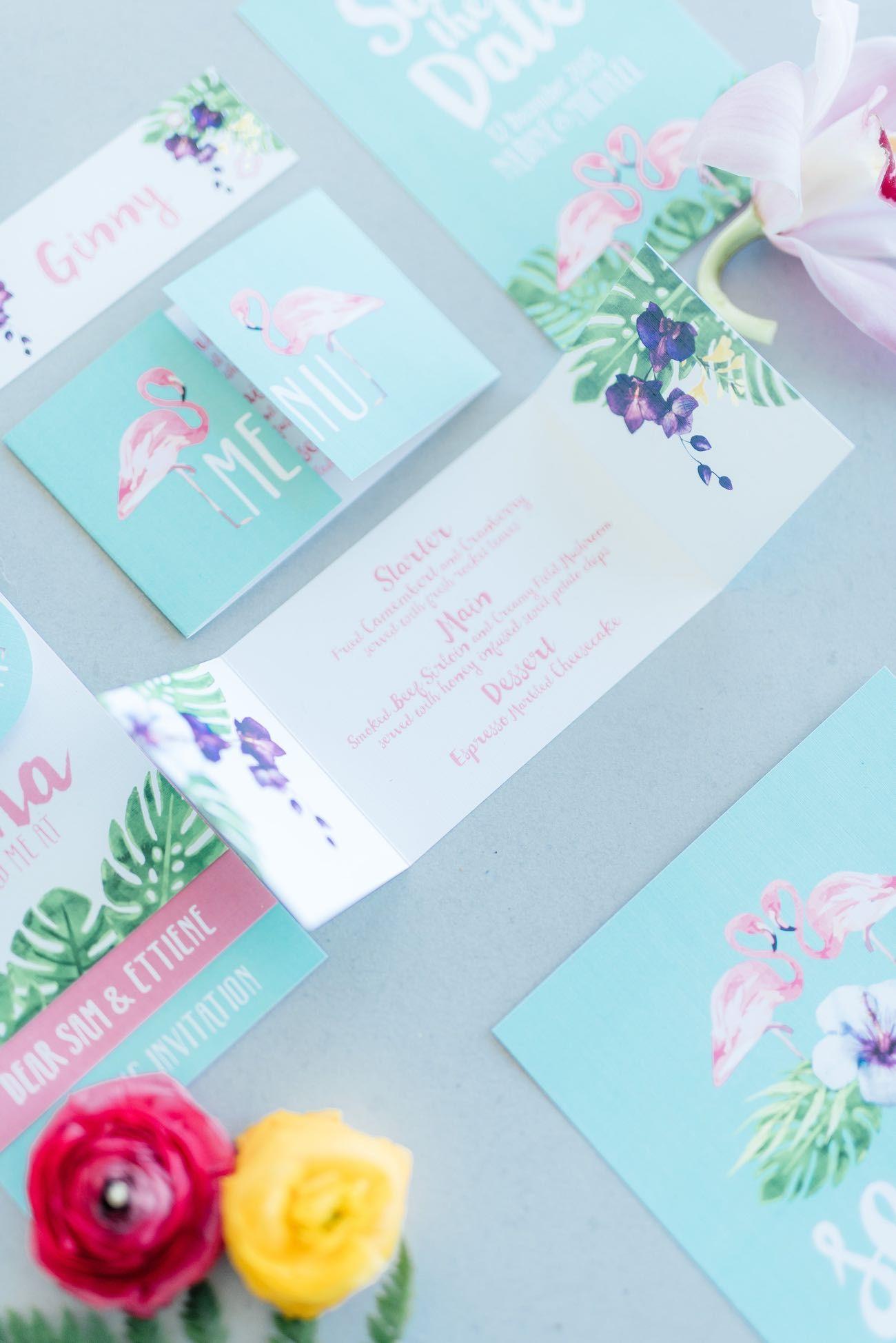 confetti daydreams wedding invitations%0A Gorgeously Whimsical Tropical Wedding Ideas  Debbie Lourens Photography