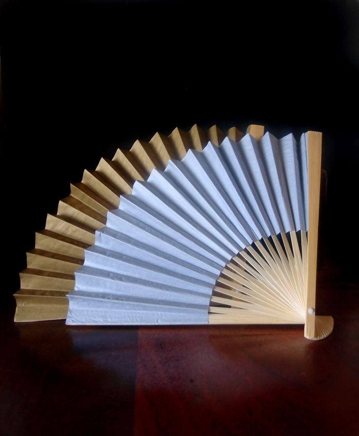 gold and silver folding paper hand fans