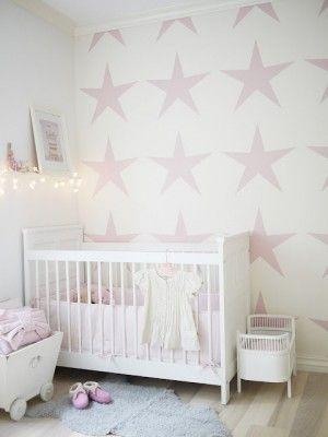 Große Rosa Sterne für das Mädchen Kinderzimmer Noch mehr Ideen - kinderzimmer spezielle madchen