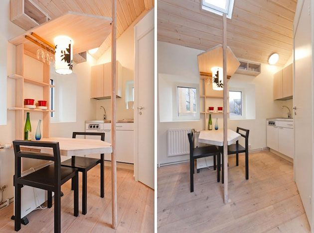 Tiny studio flat for students idesignarch interior for Furnishing a small flat