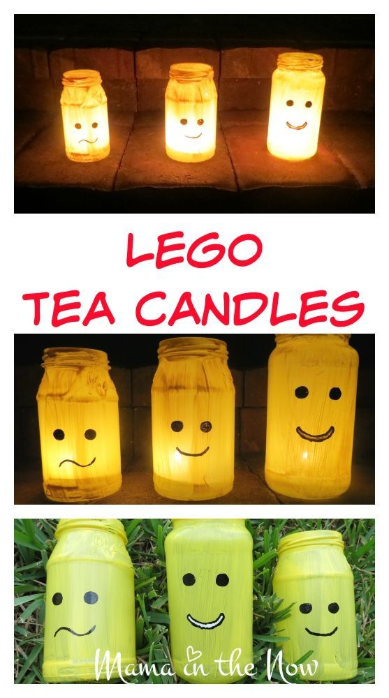 LEGO Tea Candle Lights Fun diy crafts, Dark winter and Fun diy - halloween diy crafts
