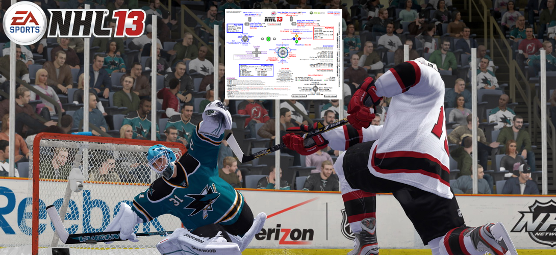 NHL 13 Controls Reference Sheet for Xbox 360