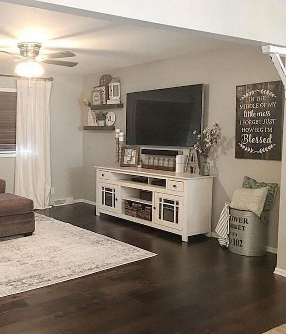 12 simple happy living room ideas 7 in 2020 Farm house