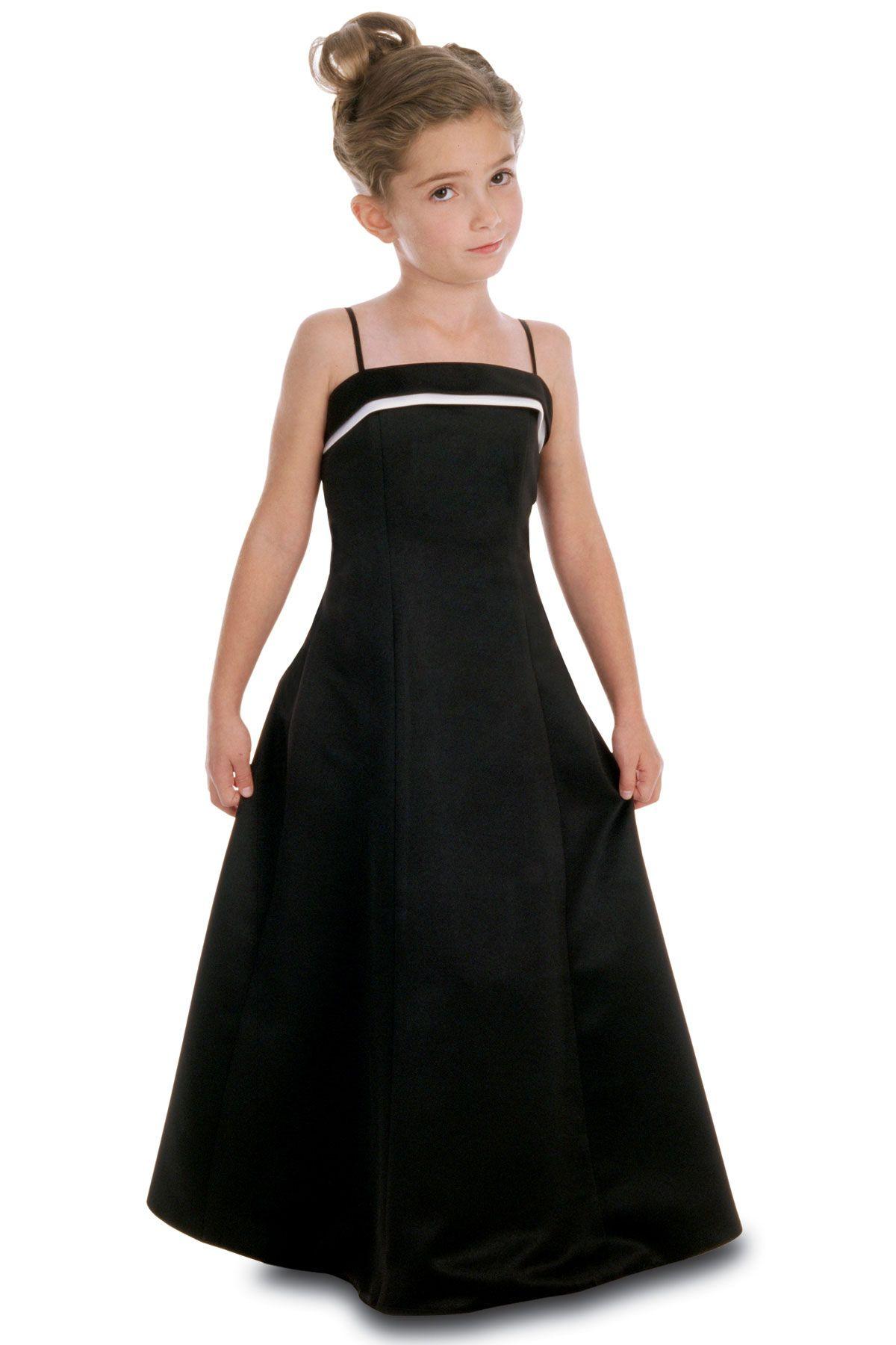 Satin aline style junior bridesmaid dress by alexia designs