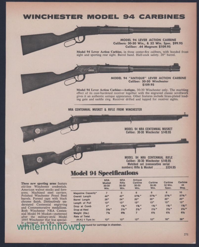Teddy roosevelt guns to be displayed at nra national - 1972 Winchester 94 Lever Action Carbine 94 Nra Centennial Musket And Rifle Ad