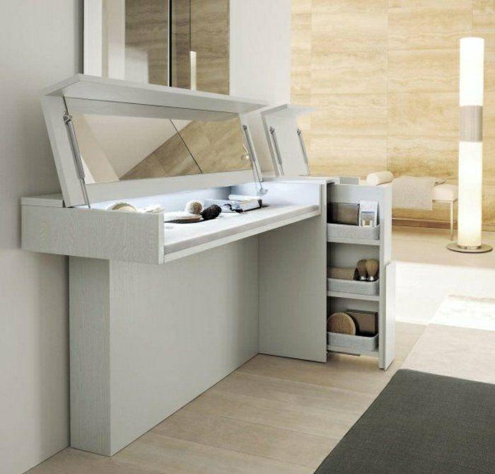 jolie coiffeuse avec miroir 40 id es pour choisir la meilleure conforama bois blanc et coiffeur. Black Bedroom Furniture Sets. Home Design Ideas