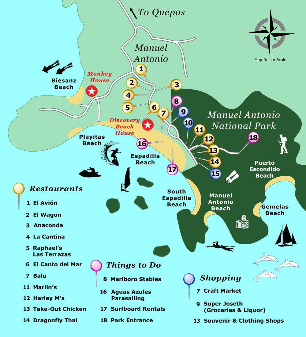 Maps Quepos Manuel Antonio Costa Rica Costa Rica Reise Zentralamerika Costa Rica