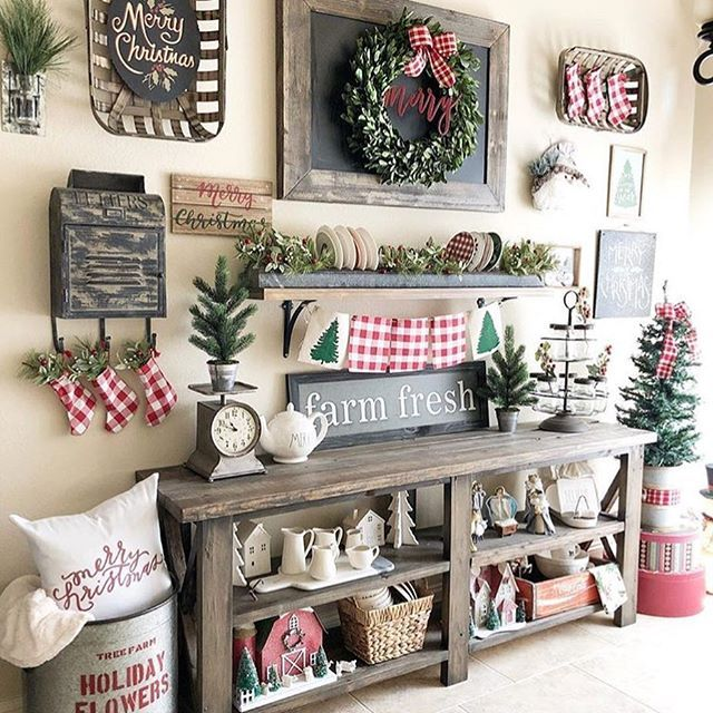 pin by christy munley on farmhouse look pinterest farmhouse christmas decor christmas decor and houzz - Farmhouse Christmas Decor Pinterest