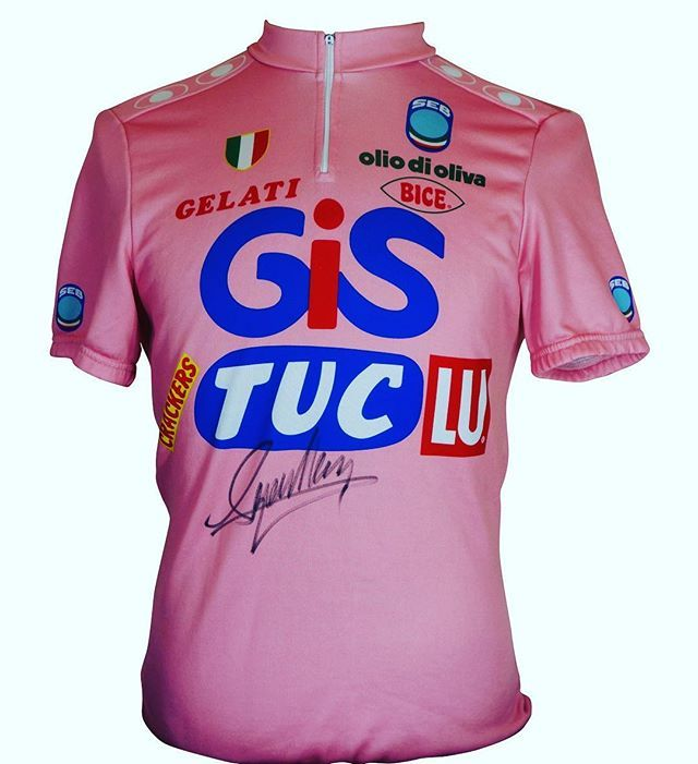 Francesco Moser Lo Sceriffo Winner Of The 1984 Giro D Italia This Jersey Is Part Of My Collection And Is For Sale Enquire Bike Jersey Giro D Italia Jersey
