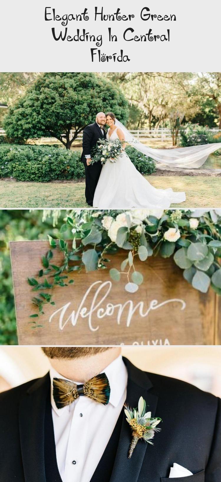 Elegant hunter green wedding in central florida elegant