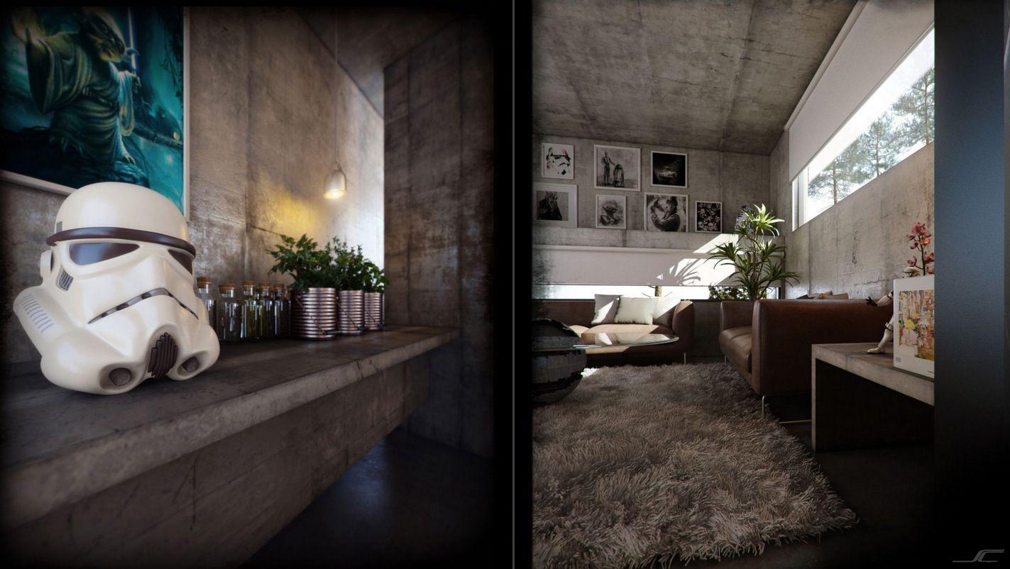 Three Contrasting Home Designs Star Wars Living Room Star Wars Room Decor Star Wars Bedroom