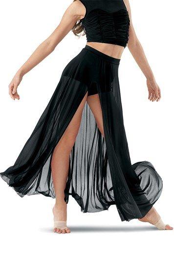 110c6b847299 High-Waist Mesh Maxi Skirt