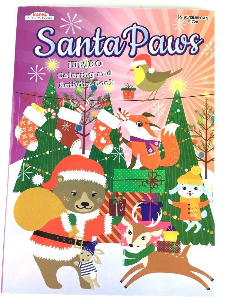 Santa Paws Jumbo Coloring And Activity Book For Kids Christmas Coloring Book Ebay Christmas Coloring Books Kids Christmas Christmas Colors