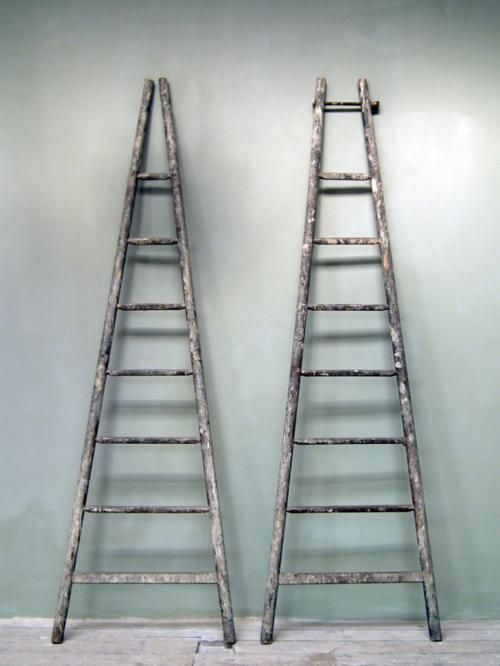 Tapered Ladders Vintage Ladder Old Ladder Old Cottage