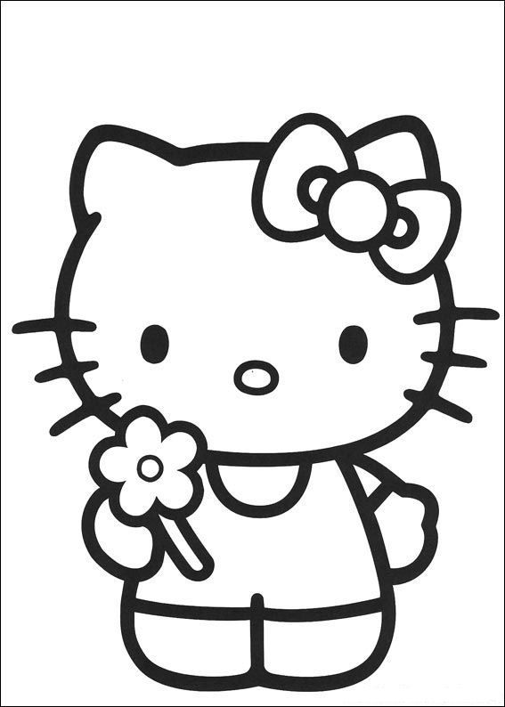 coloring page Hello Kitty | Cliparts | Pinterest | Hello kitty ...