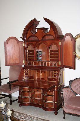 Lovely Antique Secretary Desk Copy Over 8u0027 Tall | EBay
