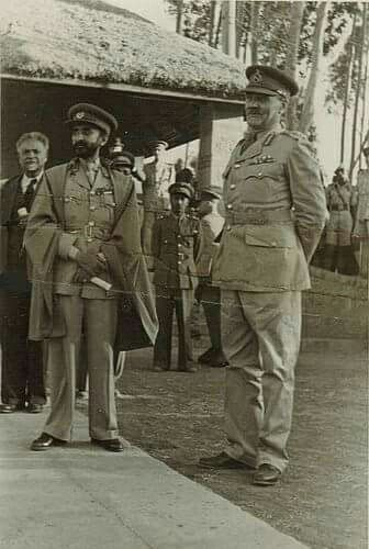 Emperor Haile Selassie I and General Cottam | History of ethiopia, Haile selassie, African royalty