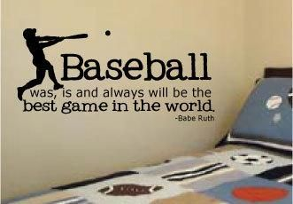 Baseball Babe Ruth Quote For Little Boys Rooms Vinyl Wall Art Decal 14 X By  Designstudiosigns